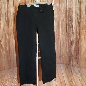 Ann Taylor Loft Julie Black Pants Sz 0